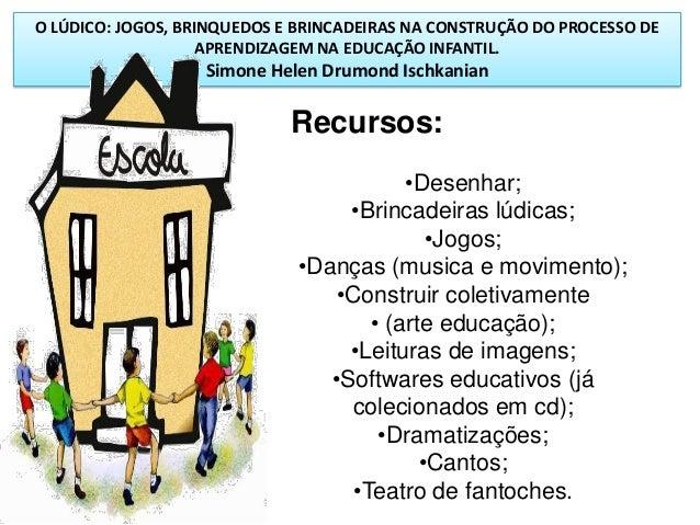 O LÚDICO: JOGOS, BRINQUEDOS E BRINCADEIRAS NA CONSTRUÇÃO DO PROCESSO DE APRENDIZAGEM NA EDUCAÇÃO INFANTIL. Simone Helen Dr...