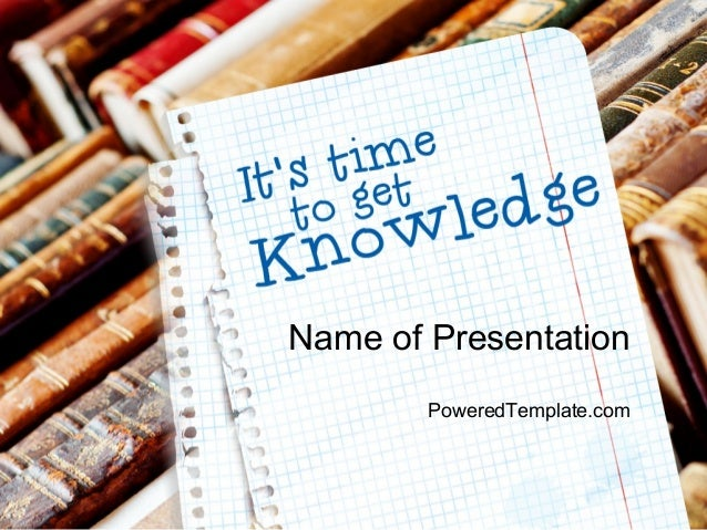 old knowledge powerpoint template by poweredtemplatecom