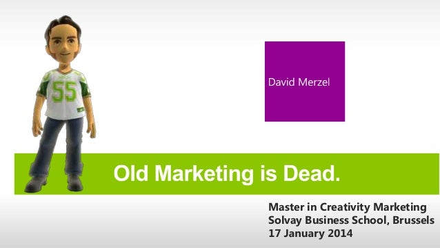 Master in Creativity Marketing Solvay Business School, Brussels