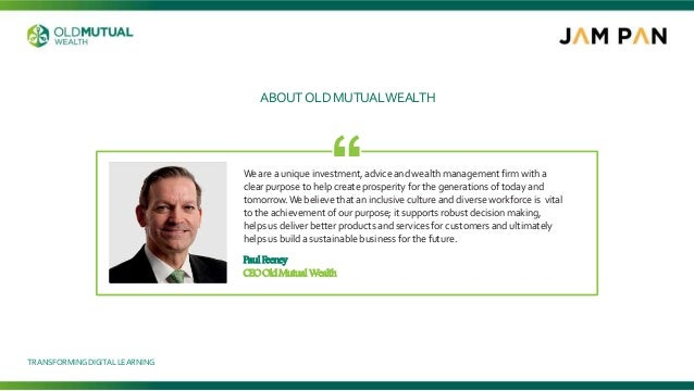 Weare a unique investment, advice and wealth management firm with a clear purpose to help create prosperity for the genera...