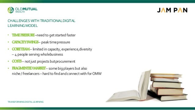 CHALLENGES WITH TRADITIONALDIGITAL LEARNINGMODEL • TIMEPRESSURE–need to get started faster • CAPACITYSWINGS– peak timepres...