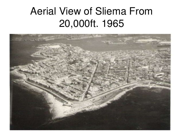 Aerial View of Sliema From 20,000ft. 1965
