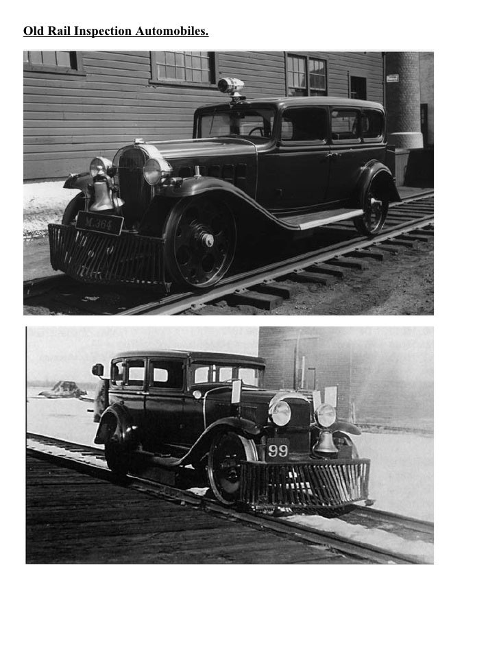 Old Rail Inspection Automobiles.