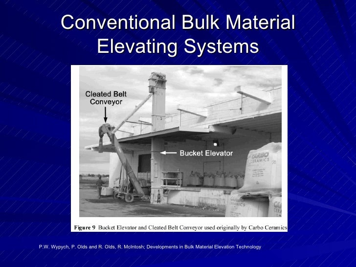 Conventional Bulk Material Elevating Systems P.W. Wypych, P. Olds and R. Olds, R. McIntosh; Developments in Bulk Material ...