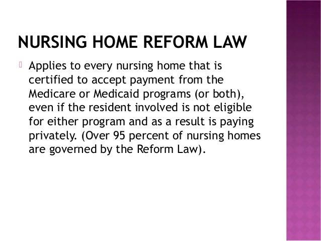 Nursing Home Reform Act Obra