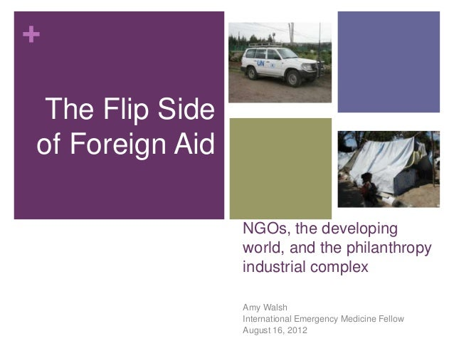 + The Flip Side of Foreign Aid NGOs, the developing world, and the philanthropy industrial complex Amy Walsh International...