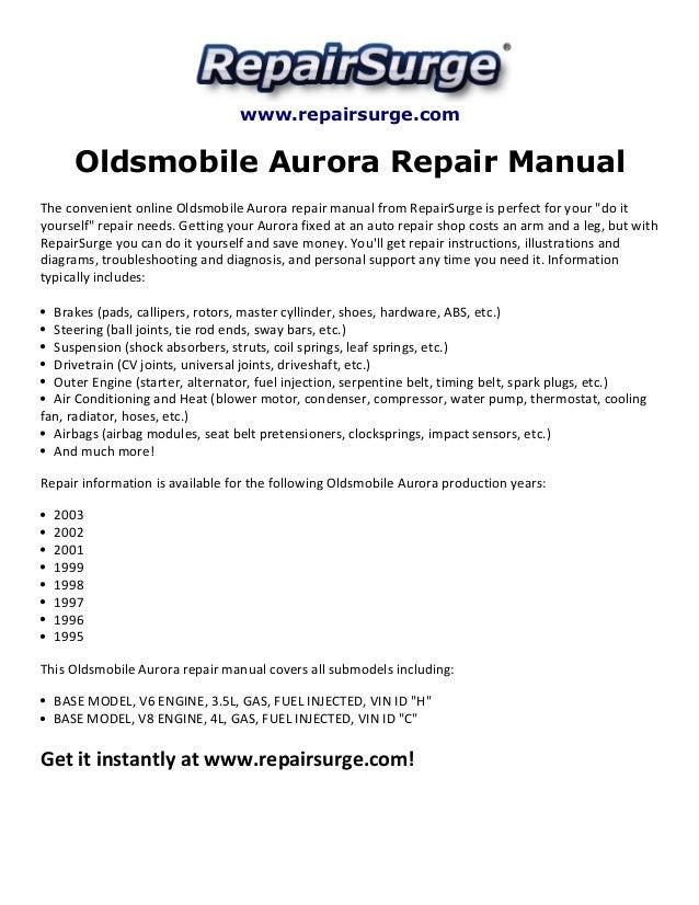 oldsmobile aurora repair manual 1995 2003 rh slideshare net 1999 Oldsmobile Aurora Overheating Problem Fuse Box 1999 Oldsmobile Aurora Repair Manu