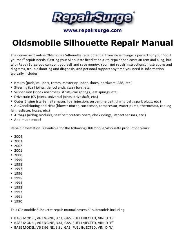 oldsmobile silhouette repair manual 1990 2004 rh slideshare net 2000 oldsmobile silhouette starter wiring diagram 2000 oldsmobile silhouette fuel pump wiring diagram