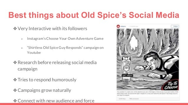 old spice case study analysis Old spice is studied with its swot analysis, segmentation, targeting, positioning and competition tagline and usp are also covered.