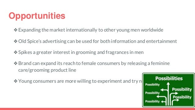 swot analysis of old spice The man your man could smell like campaignby: kelsey hinchliffe and jaimie olson.