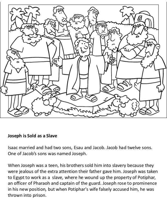 Joseph helped the king coloring page | 851x638