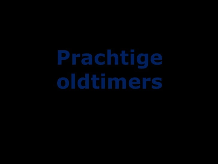 Prachtige oldtimers