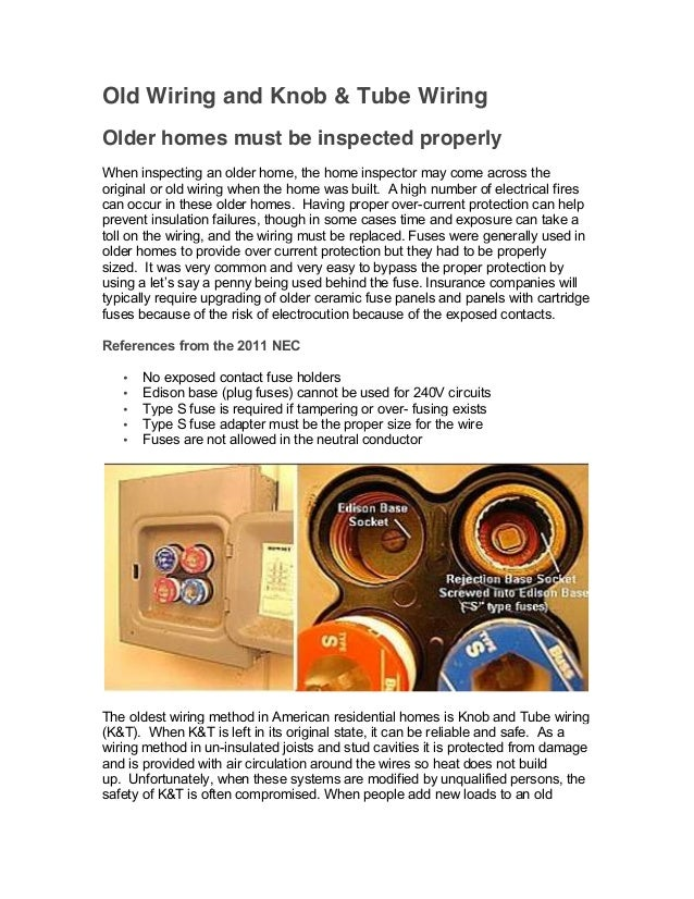 Old Wiring and & Tube Wiring | Home Inspection Training on tube fuses, tube assembly, tube terminals, tube dimensions,