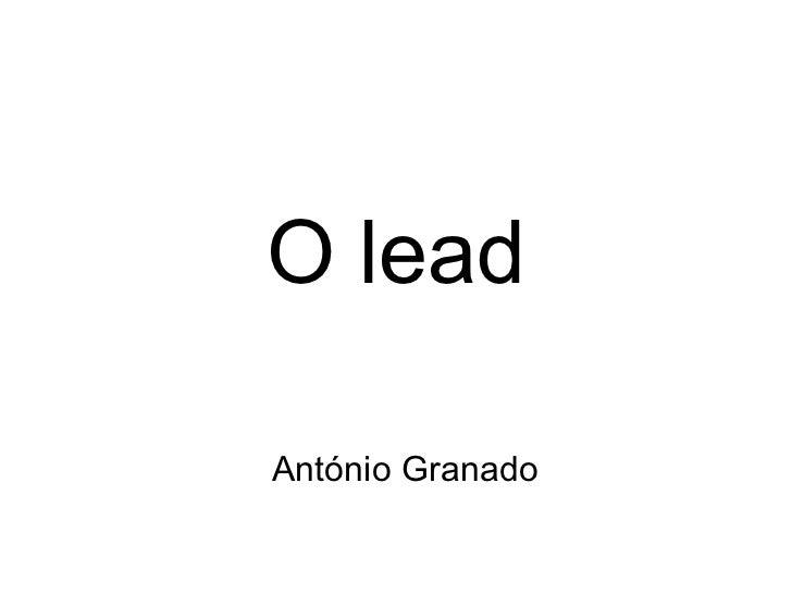 O lead António Granado