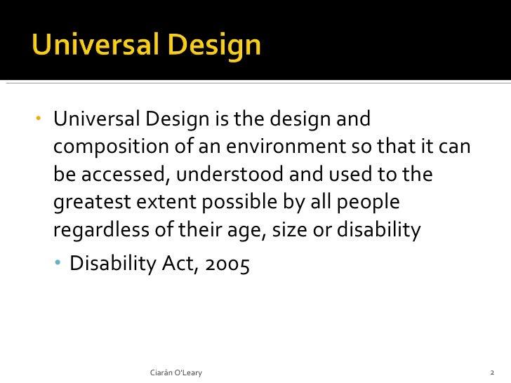 Universal Design, Education and Technology Slide 2