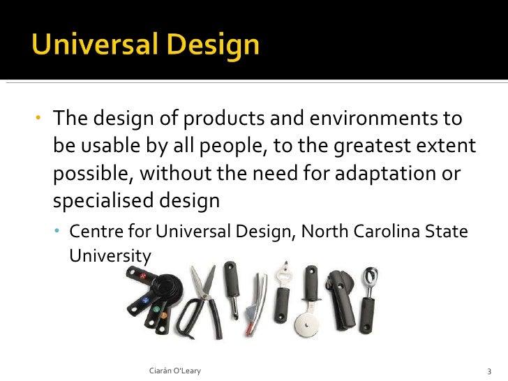 Universal Design, Education and Technology Slide 3