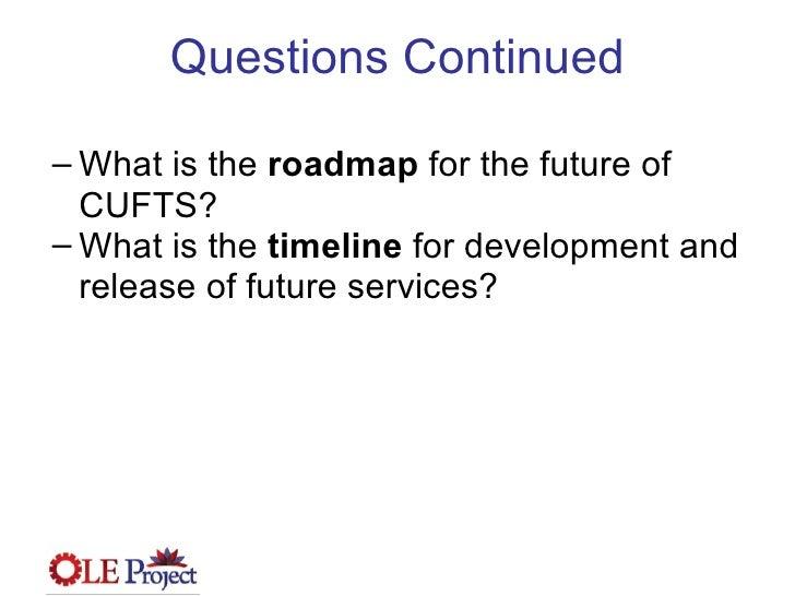 OLE Project Webinr - Conversation with CUFTS April 8 2009 Slide 3