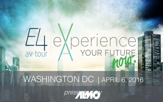 WASHINGTON DC | APRIL 6, 2016! presented by!