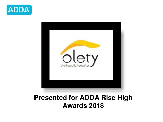 Presented for ADDA Rise High Awards 2018