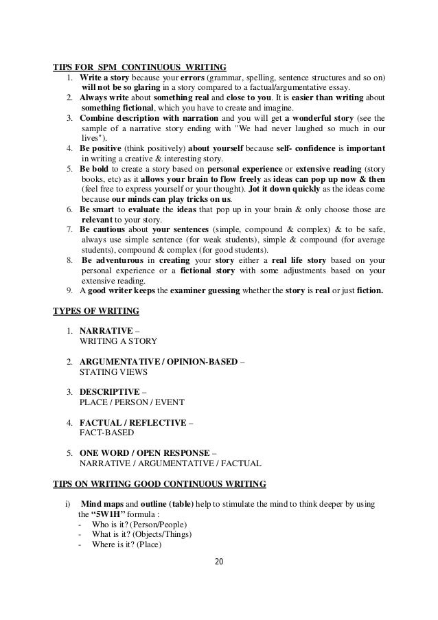 o level directed writing notes 20 20 tips for spm continuous writing