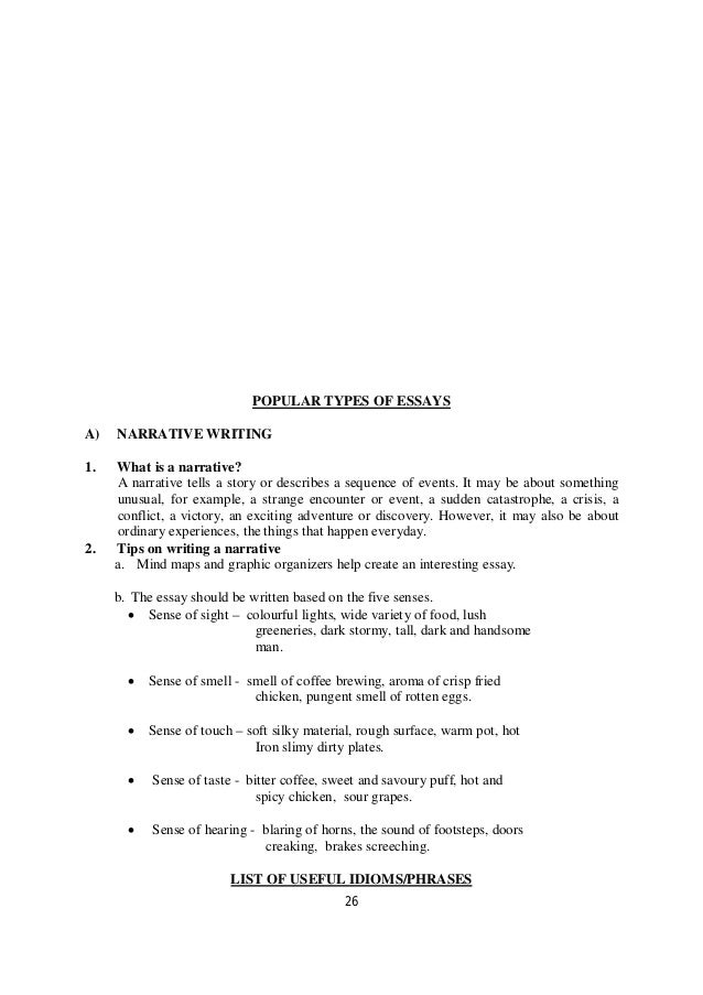 o level directed writing notes  subject predicate 26
