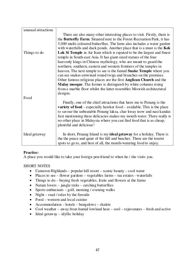 O level directed writing notes