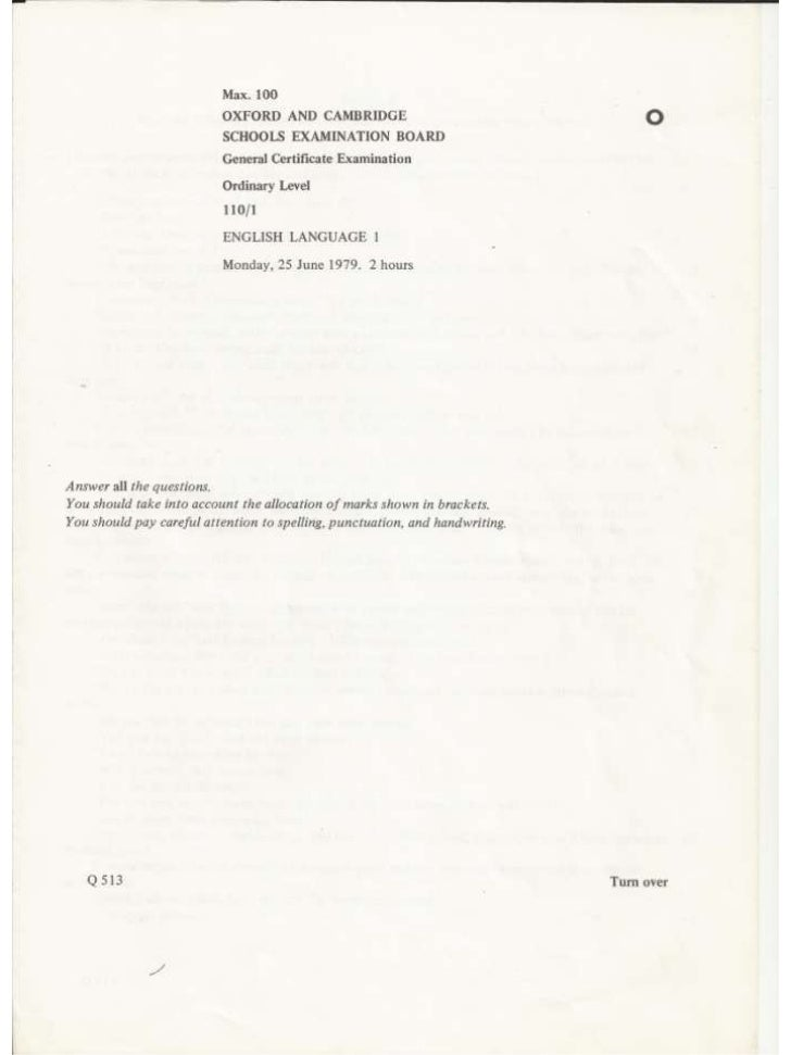 O Level English 1123 Past Papers