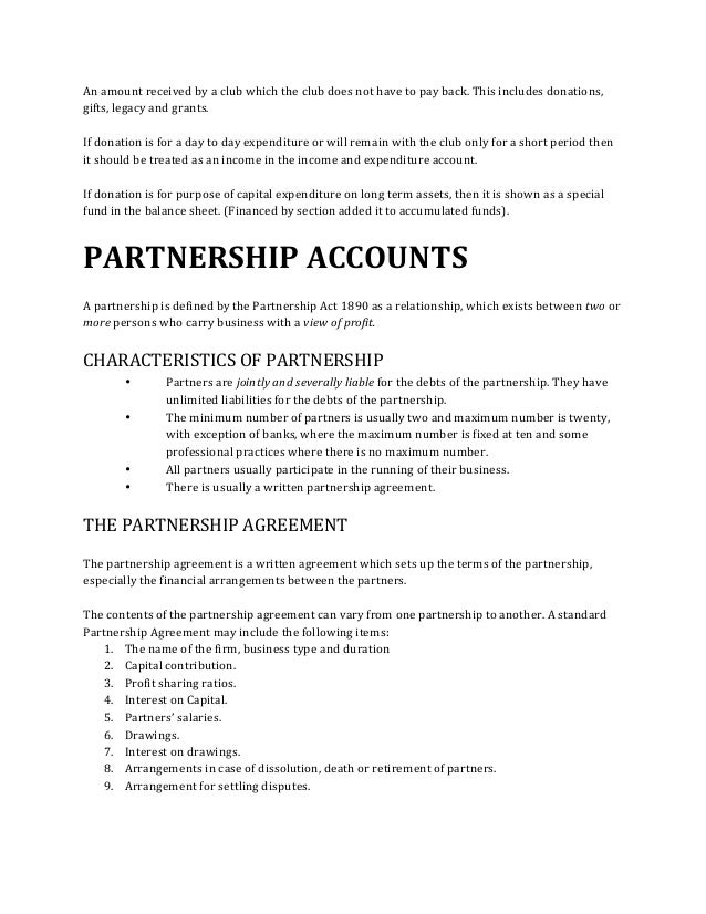 PARTNERSHIP NOTES IN ACCOUNTS EBOOK