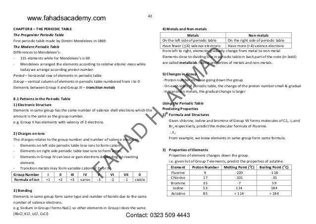 Olevels chemistry notes gce and igcse urtaz Image collections
