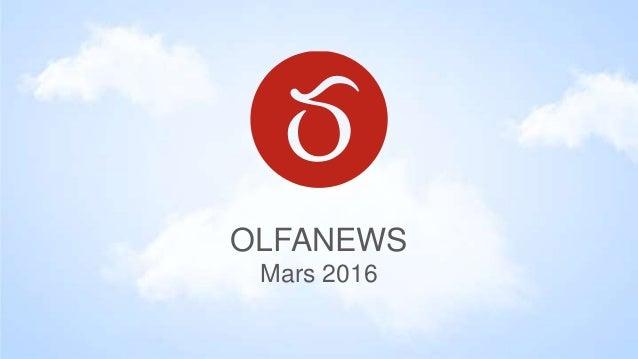 OLFANEWS Mars 2016