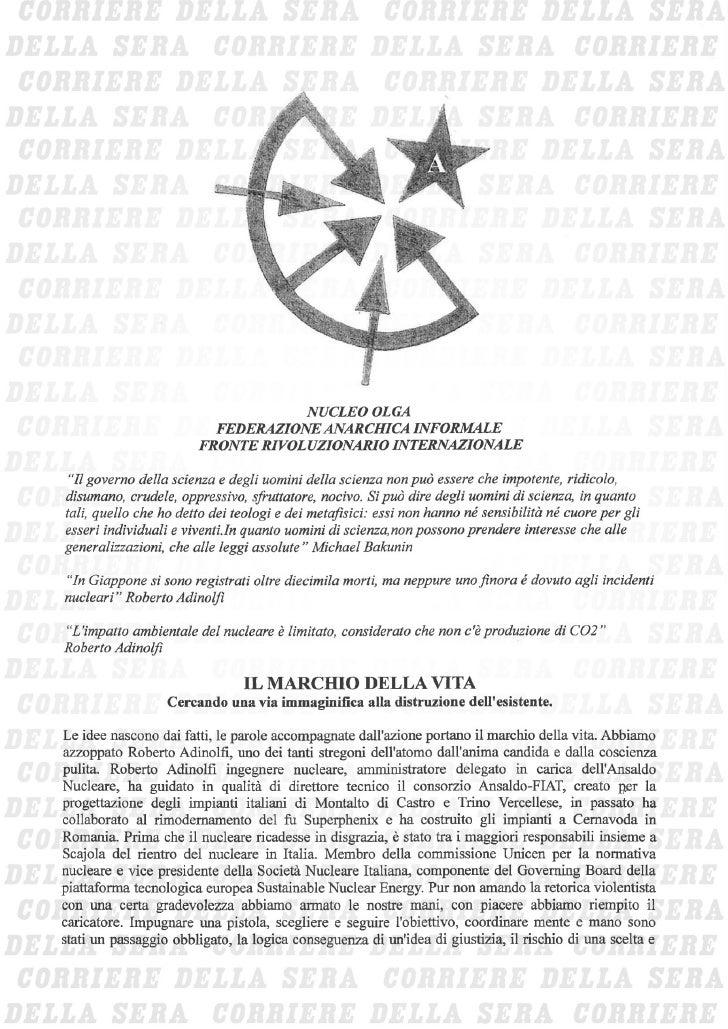 Cellula Olga delle Federazione anarchica