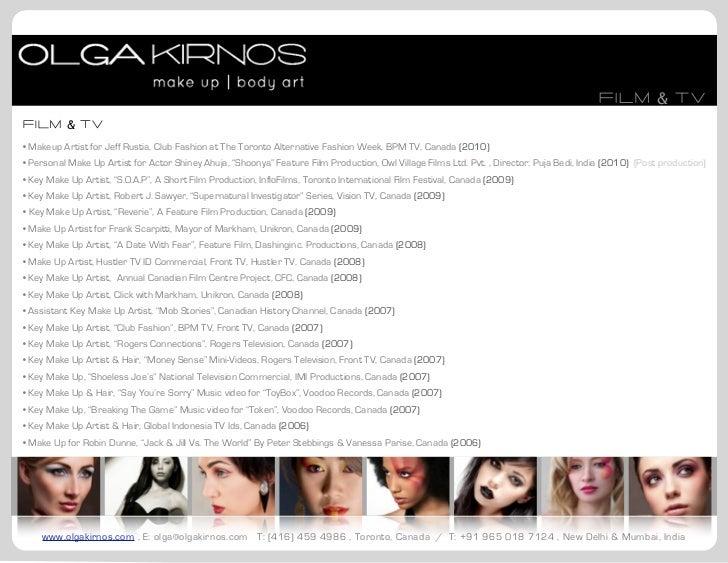 Makeup artist resume