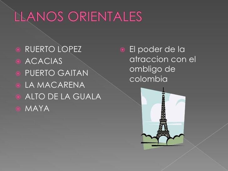 LLANOS ORIENTALES<br />RUERTO LOPEZ<br />ACACIAS <br />PUERTO GAITAN <br />LA MACARENA <br />ALTO DE LA GUALA<br />MAYA<br...