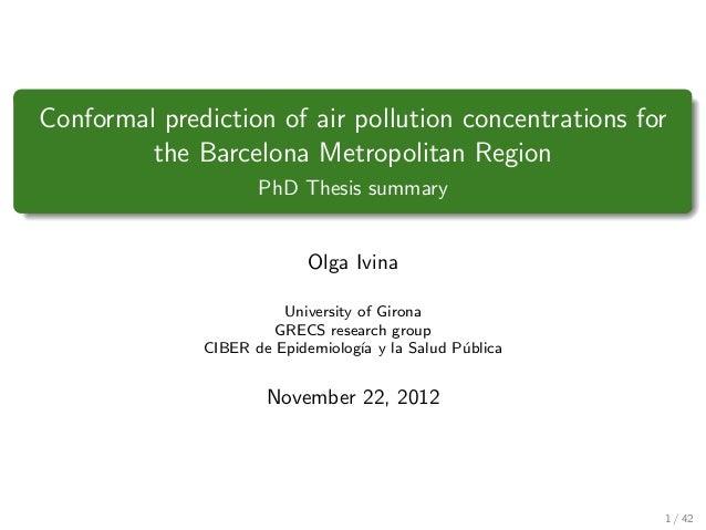 Phd thesis presentation