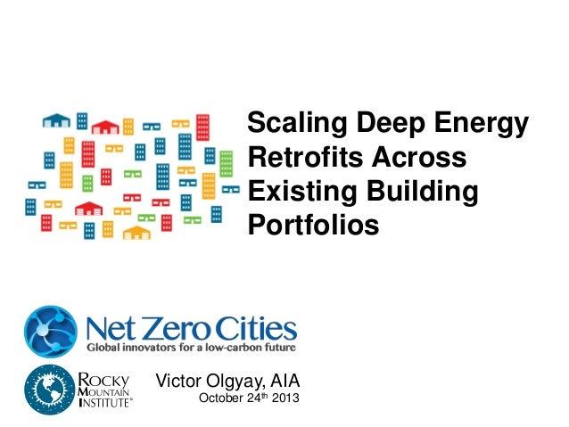 Scaling Deep Energy Retrofits Across Existing Building Portfolios Step 1: Collect portfolio data and choose type of buildi...