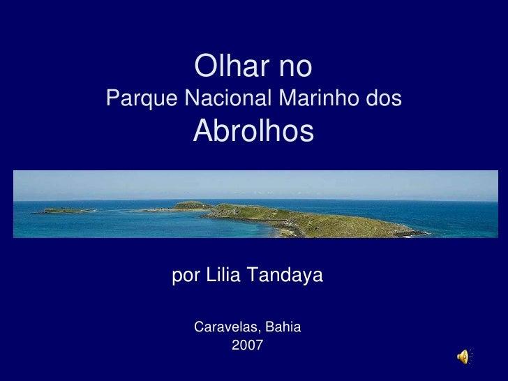 Olhar no Parque Nacional Marinho dos Abrolhos<br />por Lilia Tandaya<br />Caravelas, Bahia    <br />2007<br />