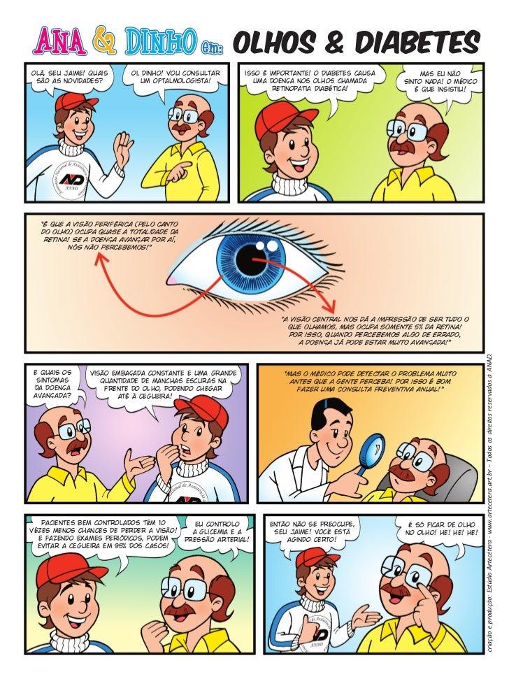olhos & diabetesolá, seu jaime! quais      oi, dinho! vou consultar       isso é importante! o diabetes causa          mas...