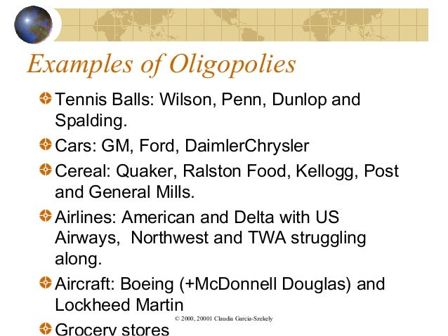 Oligopoly and Its Most Famous Examples