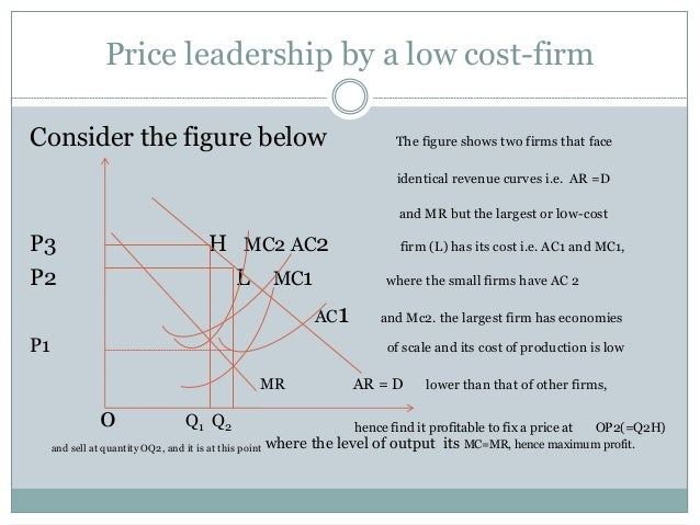 barometric price leadership Largest market share, was consistently a price leader  in regions with low  concentration should lead prices coordinating behavior is (barometric) price  leader.