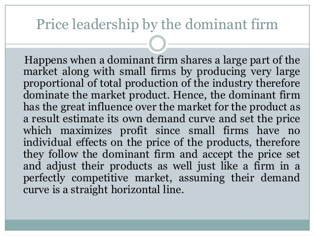 dominant price leadership Zemblabnnvaranl.