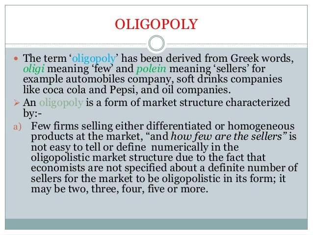 economics oligopoly essay View essay - ee economics from econ 212 at arizona state university extended essay in economics tacit oligopoly of the original supermarkets of bogor written by ib diploma candidate #: session word.