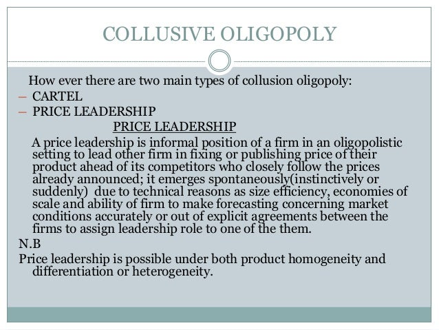 what is collusive oligopoly