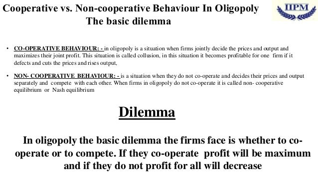 an analysis of the models of oligopoly behaviour are they realistic or not Lecture notes on microeconomics by l ukasz wo zny warsaw school of economics 2016  nomics is the science which studies human behavior as a relationship between ends and  hence, by.