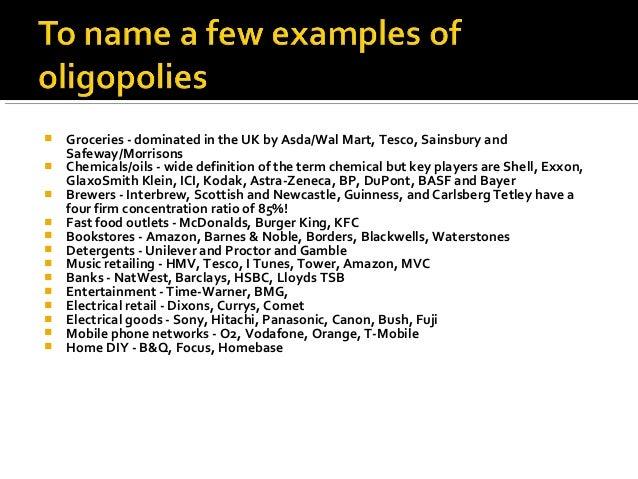 oligopoly examples uk