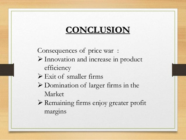 oligopoly conclusion An oligopoly is characterized by a small number of sellers who dominate an entire market each individual company's actions affect the others these firms are in.