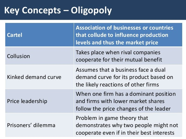 characteristics of oligopoly as one of the basic market structures Market structures - download as characteristics of oligopoly 1 product choice and oligopoly market structure chapter 162 oligopolypdf engle za.