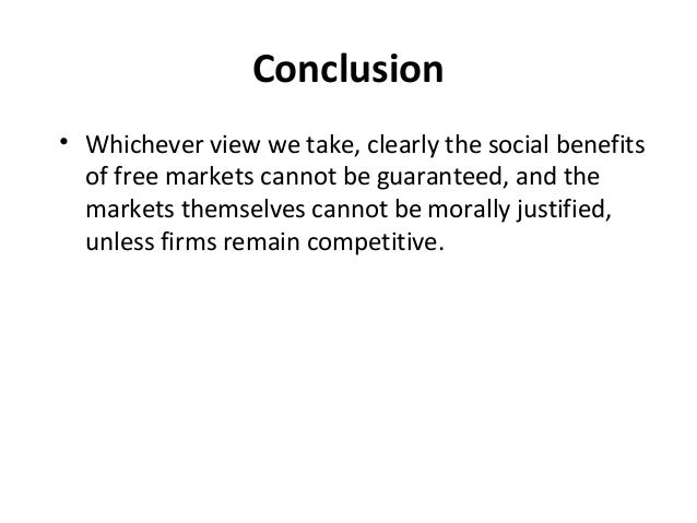 oligopoly conclusion Conclusion: an oligopoly may end up looking more like a monopoly or a competitive market, depending on the number of firms there is no certainty in how firms will compete in oligopoly it.