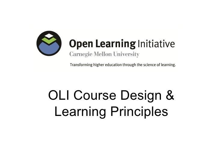 OLI Course Design & Learning Principles