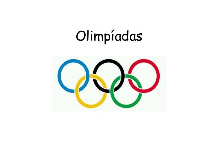 Olimpíadas<br />