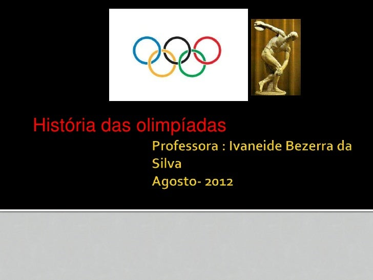 História das olimpíadas